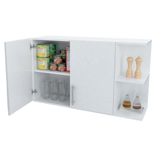 Alacena funcional blanca con estanteria color blanco en garbarino - Alacena cocina ...