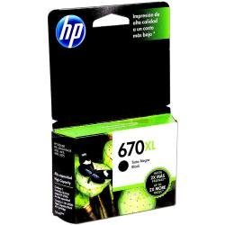 Cartucho HP 670 XL Negro