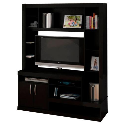 Centro de entretenimiento de melamina negro r20410 en - Pintar muebles de melamina fotos ...