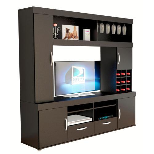 Centro de entretenimiento de melamina negro r20411 en garbarino - Financiar muebles sin nomina ...