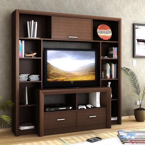 Centro de entretenimiento exclusive color tabaco en garbarino - Modulos para televisores ...