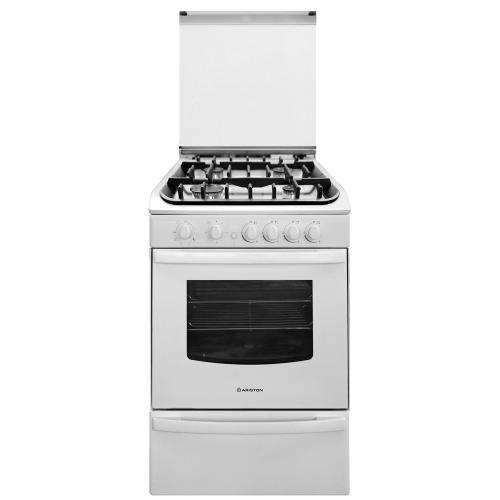 Cocina ariston 55 cm cg54sg1h w multigas blanca en garbarino for Garbarino cocinas a gas