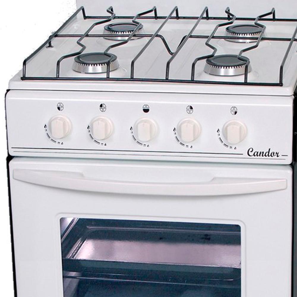 Cocina ESCORIAL 51 cm CANDOR Gas Envasado Blanca en Garbarino