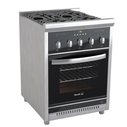 Cocina morelli 62 cm coc 600 cristal multigas inoxidable for Ver cocinas industriales