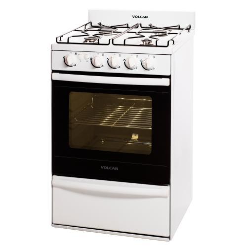 Cocina volcan 55 cm 89643v multigas blanca en garbarino for Garbarino cocinas a gas