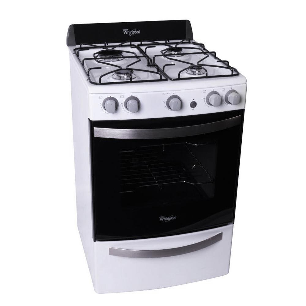 Cocina whirlpool 55 cm wfb56db multigas blanca en garbarino for Cocinas de gas ciudad