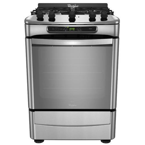 Cocina whirlpool 59 7 cm wf560xt multigas gris en garbarino for Garbarino cocinas a gas
