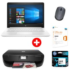 COMBO NTBK HP CI7 14-bp005 +MTFC HP 4535 c/cart+MOUSE+OFFICE