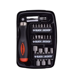 Destornillador Manual y Set de 22 Puntas Black & Decker