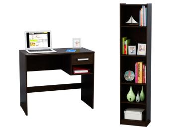 Muebles escritorio cheap escritorio en l pc mesa notebook for Muebles de oficina color wengue