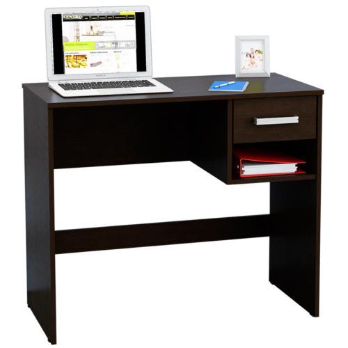 Escritorio biblioteca color wengue promo vuelta al cole for Muebles para oficina escritorios