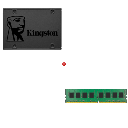 HDD Kingston SA400S37 120 GB + Memoria Kingston KVR24N17S6/4