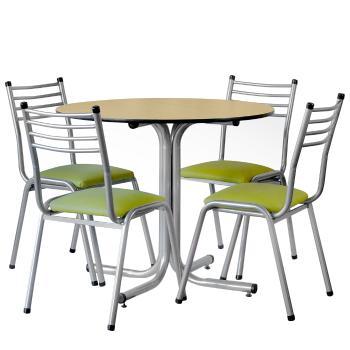 Juego de mesa y 4 sillas modelo paris apilables en garbarino for Comedor 8 sillas paris