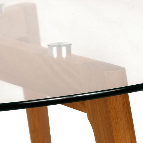 Mesa de madera vidrio templado en garbarino for Vidrio templado mesa