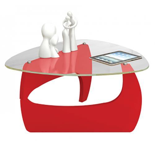 Mesa ratona de vidrio templado color rojo en garbarino - Mesas de vidrio templado ...