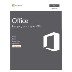Microsoft OFFICE MAC HOGAR y ESTUDIANTES 2016