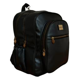 "Mochila Mommy Maternal ""Olivia"" Black Negro"