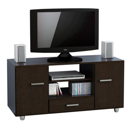 Modular para tv de melamina wengue mt1040w en garbarino for Muebles rusticos para tv