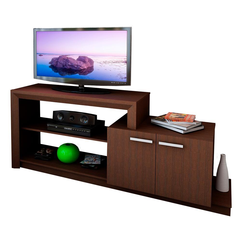 Mueble para lcd de melamina tabaco r22042 en garbarino for Hacer muebles online