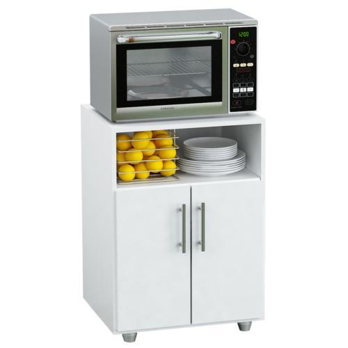 Mueble para microondas de melamina blanco en garbarino for Mueble cocina microondas
