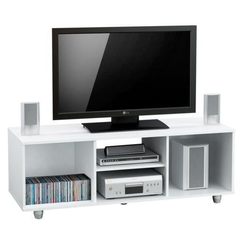 mueble para tv y cubo organizador de niveles blanco