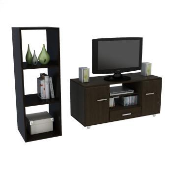 mueble para tv y cubo organizador de niveles