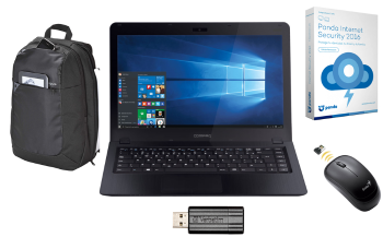 NOTEBOOK COMPAQ+MOUSE+ANTIVIRUS+PENDRIVE+MOCHILA