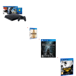 PS4 SLIM 500 GB NEW HITS BUNDLE + 3 FAVORITOS DE REGALO
