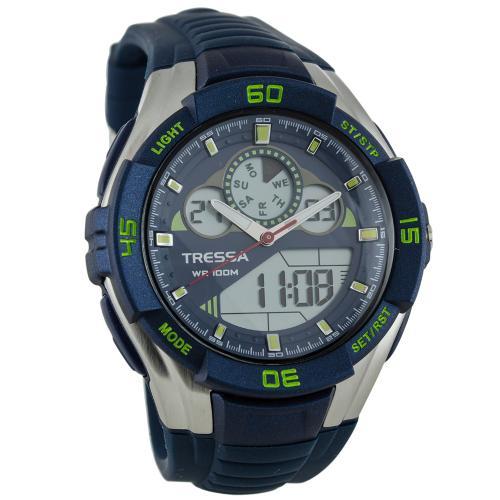 Reloj De Hombre Tressa Tiziano Azul Y Verde En Garbarino