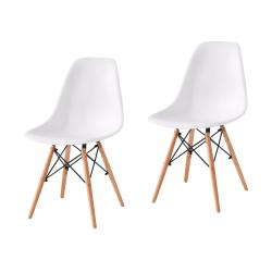 Set de 2 Sillas EAMES Color Blanco