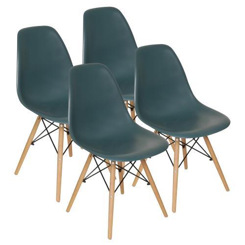 Set de 4 sillas eames color petroleo en garbarino - Muebles eames ...