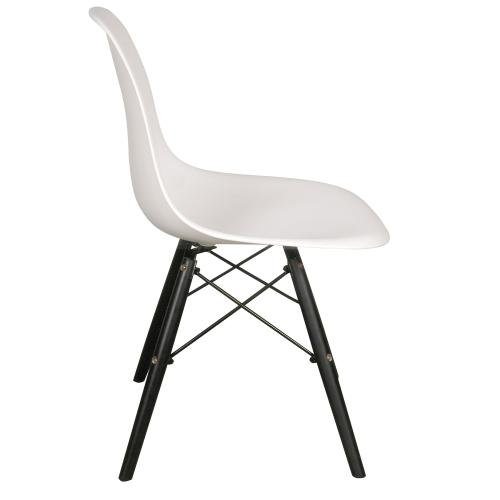 Set sillas eames pata de madera negra 4 al precio de 3 for Sillas negras de madera