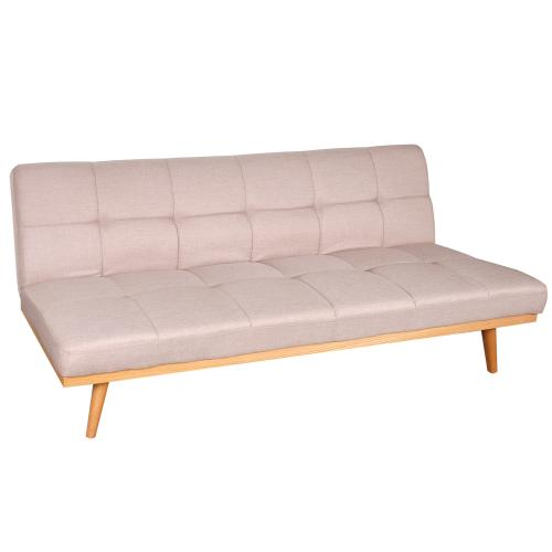 Sof cama premium tela gris de 3 posiciones en garbarino for Sofa cama en tela