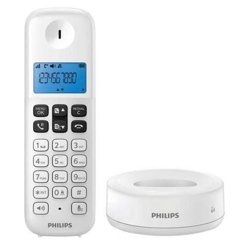 Tel fono inal mbrico philips d1311w 77 dect en garbarino for Ver sucursales telefonos