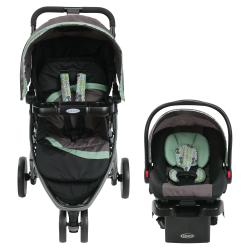 Travel System Graco Pace Negro y Verde